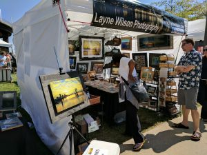 Layne Wilson Photography Artist Booth at Big 4 Bridge